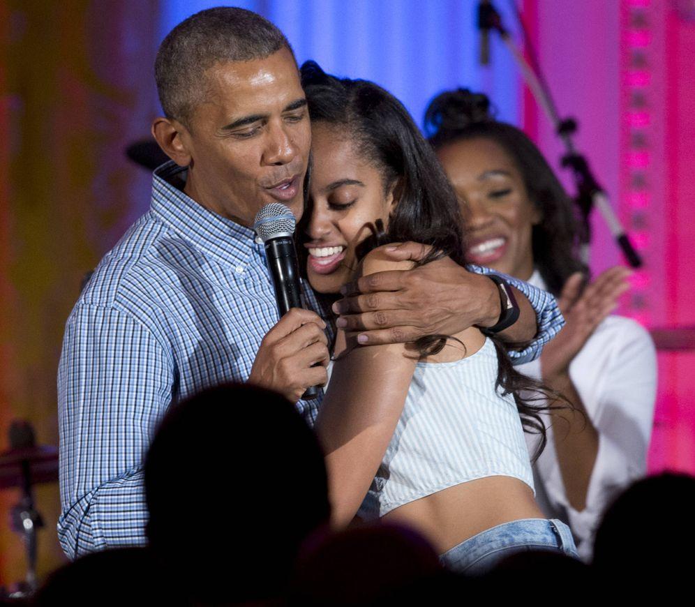 Foto: Obama abrazando a su hija Malia