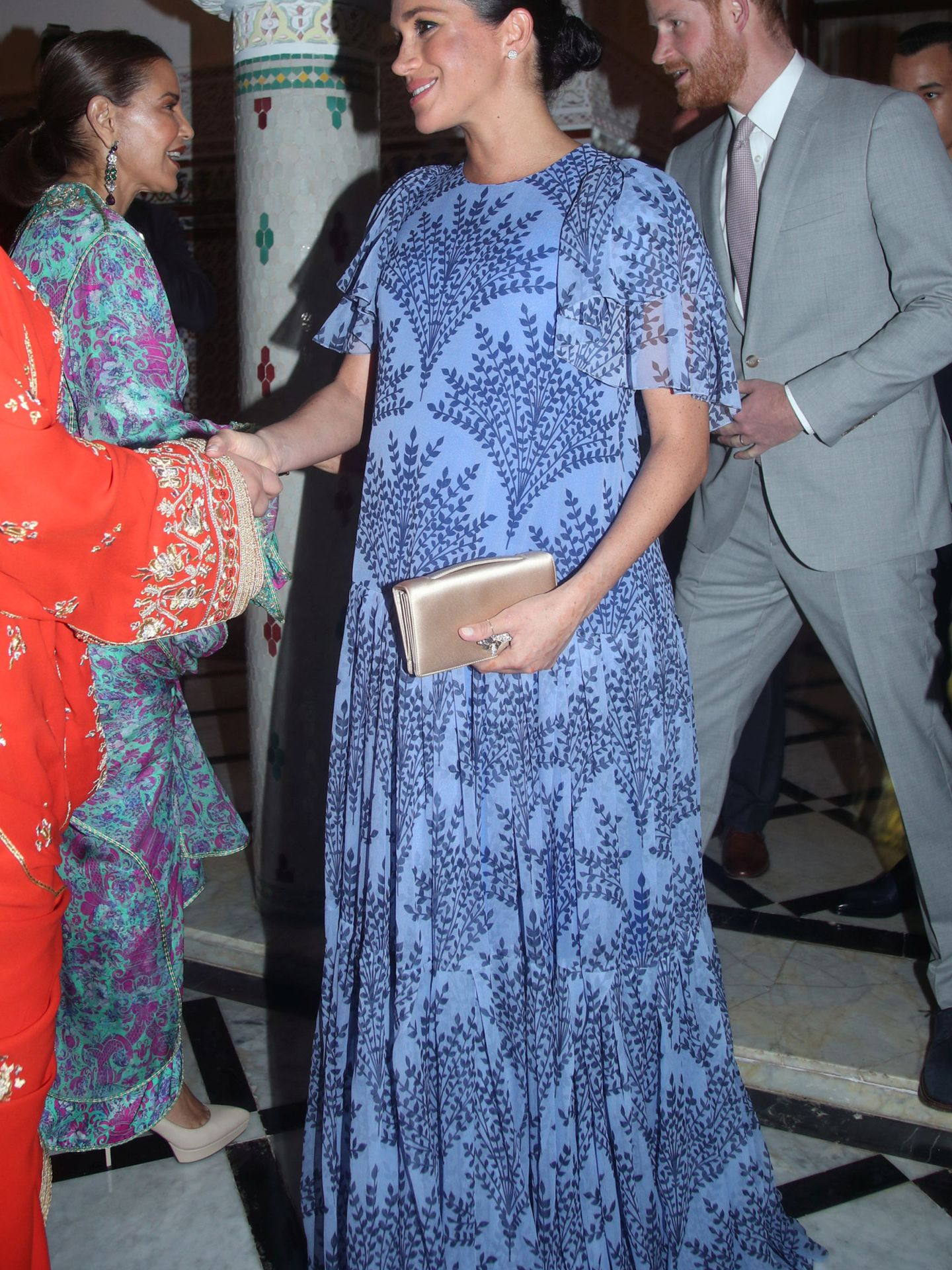 La duquesa de Sussex en la residencia del rey Mohamed VI. (Reuters)
