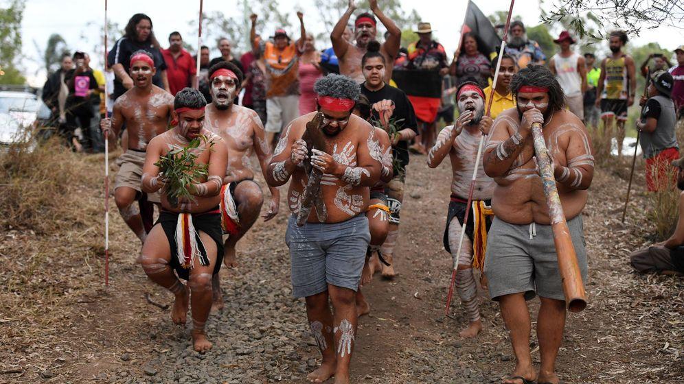Foto: Una protesta de aborígenes australinos