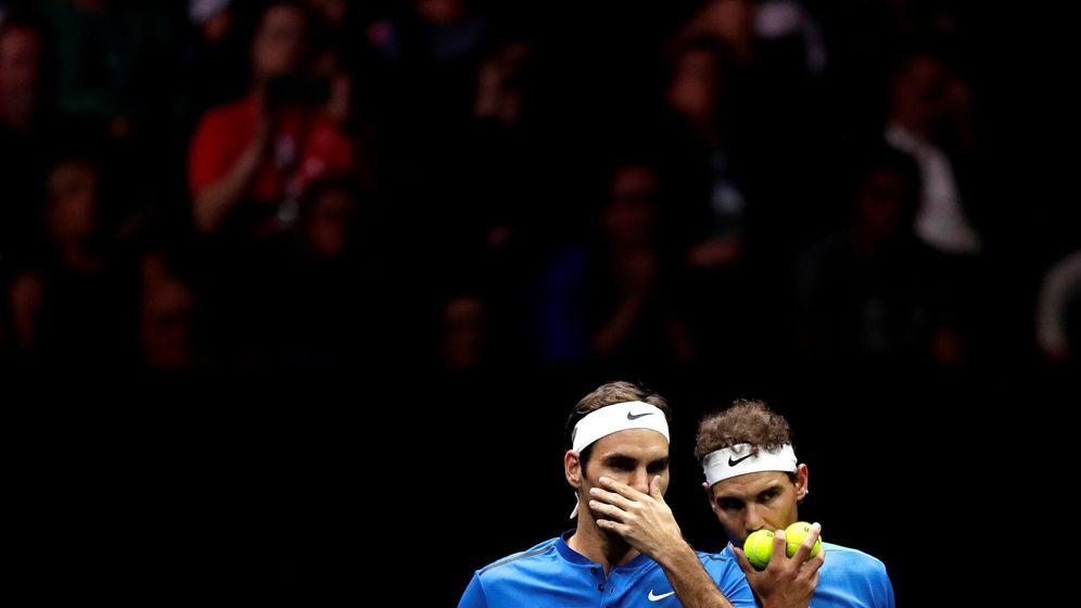Foto: Nadal y Federer en la Copa Laver de septiembre del pasado año. (Reuers)