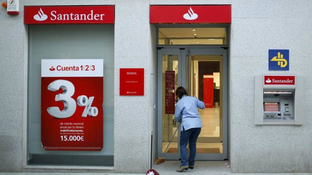 Foto: Oficina del Banco Santander. (Reuters)
