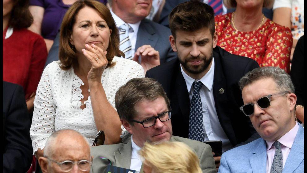 Piqué y la madre de Kate Middleton, juntos en las gradas de Wimbledon