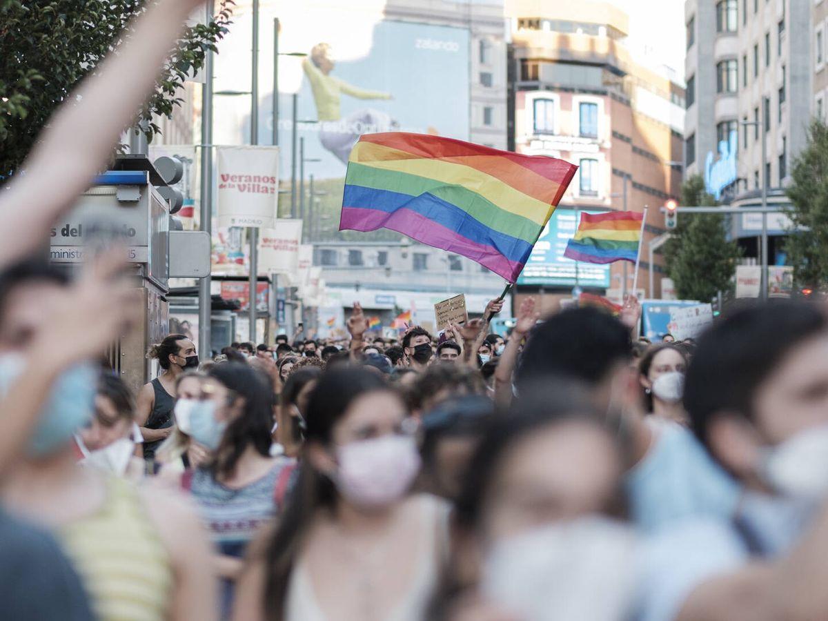 Foto: Protestas en Madrid por la muerte de Samuel. (Sergio Beleña)