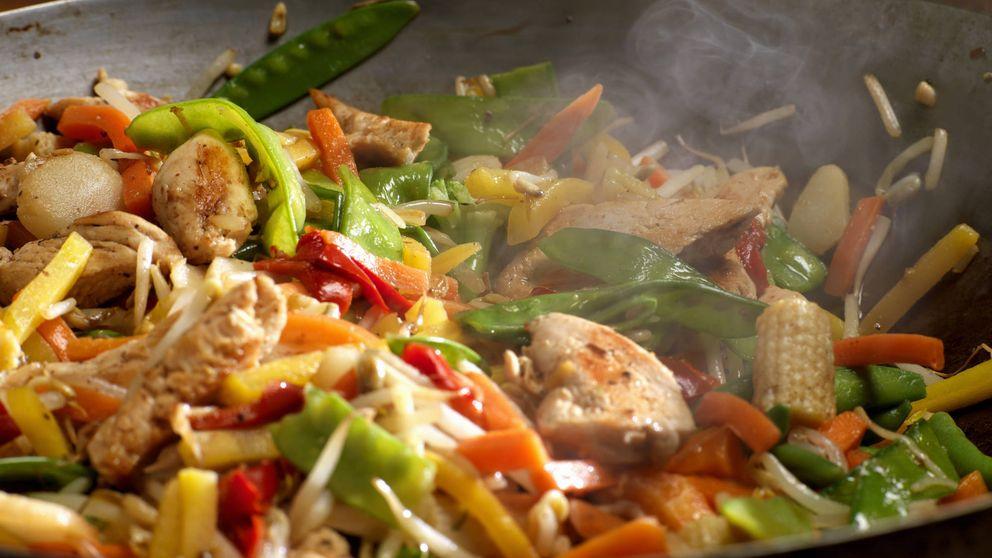 Salteado de carne con verduras de temporada