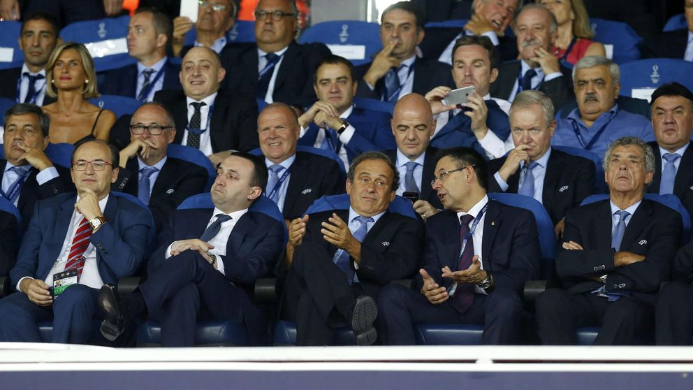 La contradicción del Barça: Villar es su amigo pese a estar en FIFA y en UEFA