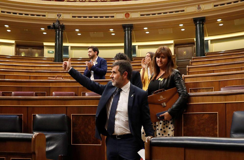 Foto: Jordi Sànchez, el pasado 21 de mayo, en la sesión constitutiva del Congreso. (EFE)