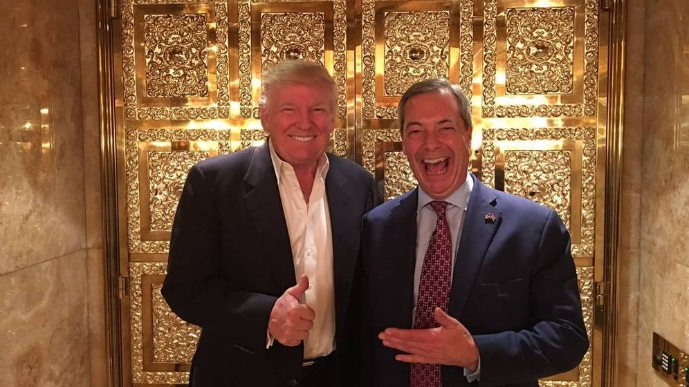 Foto: Donald Trump y Nigel Farage, durante su encuentro en la Trump Tower. (@Nigel_Farage)