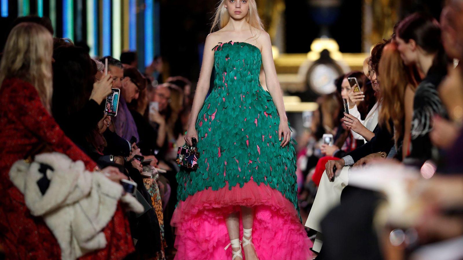 Foto: Un desfile de la Semana de la Moda de Alta Costura de París. (EFE)