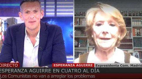 Esperanza Aguirre veta a Carmona y se enfrenta a Joaquín Prat: Son datos falsos dados por un podemita