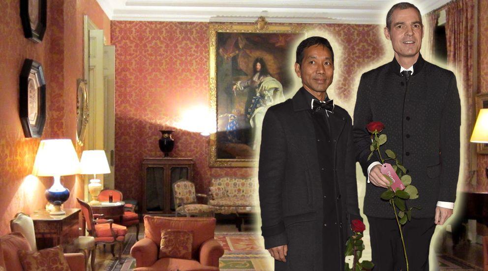 Boda sorpresa del embajador de Francia, Jérôme Bonnafont, con su novio, Danny Lalrinsan