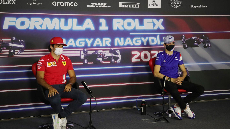 Sainz compartió rueda de prensa en esta ocasión con el francés Esteban Ocon.