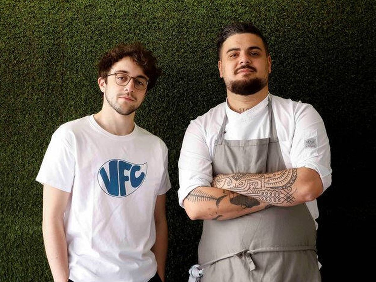 Foto: Pablo Alcolea, CEO de Vegan Food Club, y Rodo Castro, chef ejecutivo.