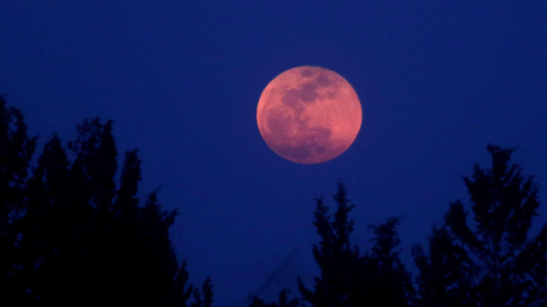 A full moon 'Super Blue Blood Moon' rises in Nicosia, Cyprus January 31, 2018. REUTERS Yiannis Kourtoglou
