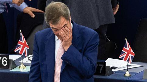 Nigel Farage en el pleno del Parlamento Europeo