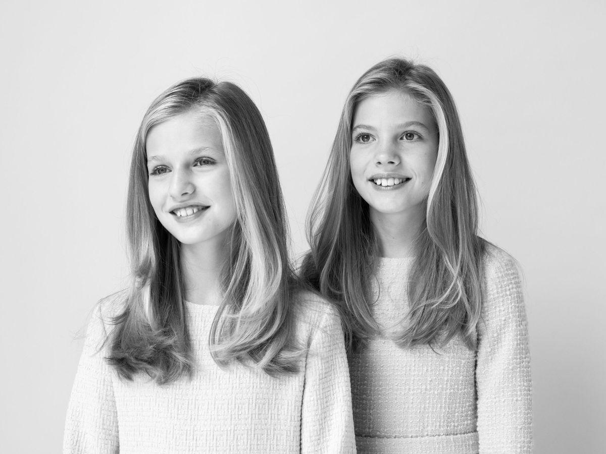 Foto: Las hijas de los Reyes, en una fotografía oficial. (EFE)