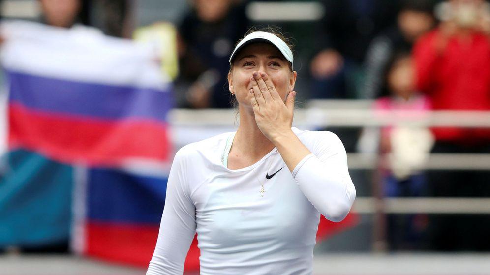 Foto: Sharapova, emocionada por su victoria. (Reuters)