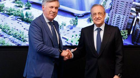 Empieza el tuya-mía en el Real Madrid: la pelota pasa de Florentino Pérez a Ancelotti