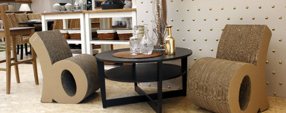 Dise o muebles de cart n para hogares con alma ecologista - Imagenes de muebles de carton ...