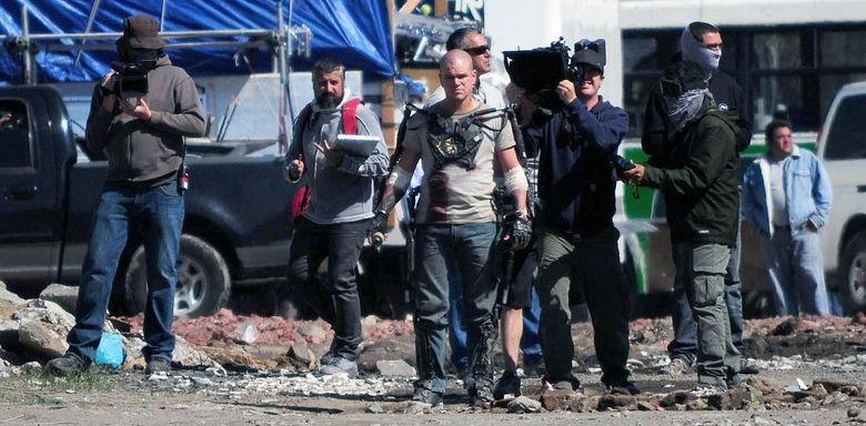 Foto: Un momento del rodaje de 'Elysium', de Neill Blomkamp. (SONY)