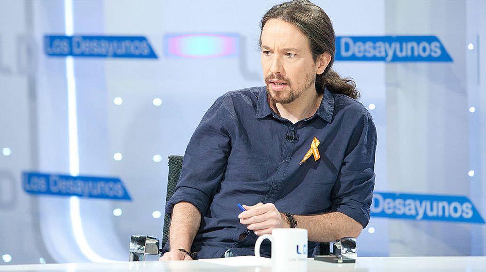 Foto: Pablo Iglesias, en 'Los desayunos'. (TVE)