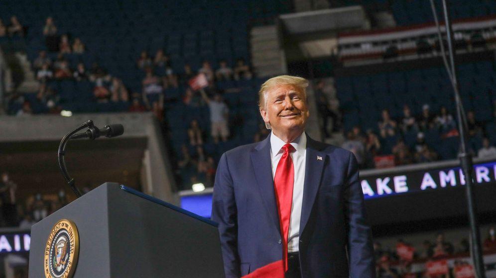 Foto: El presidente estadounidense Donald Trump durante un mitín en Tulsa. (Reuters)