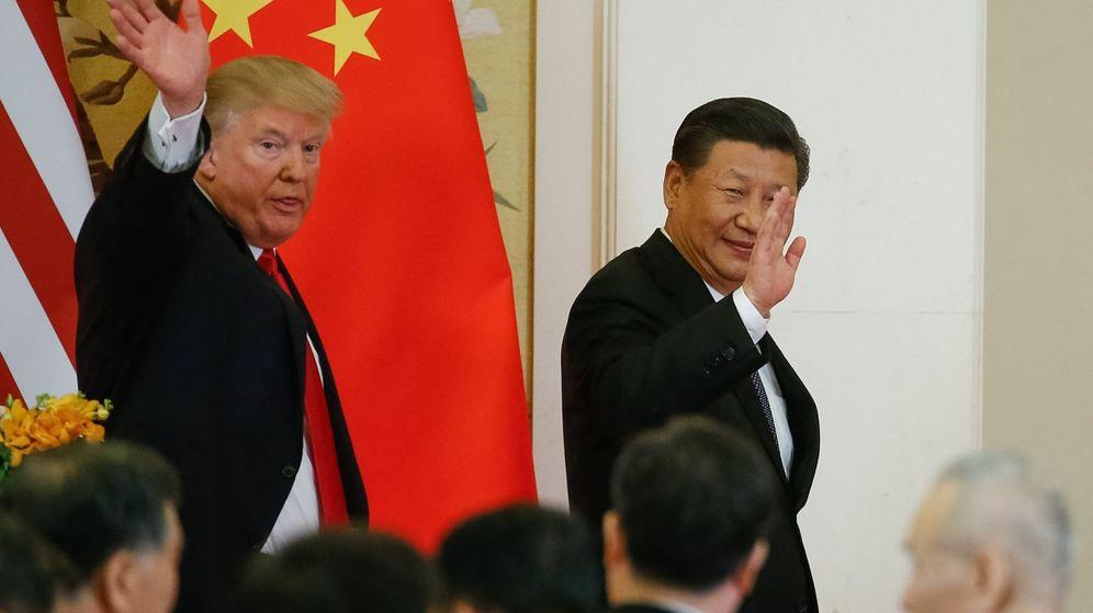 Foto: El presidente de los EEUU, Donald Trump (i), y su homólogo chino, Xi Jingping. (EFE)