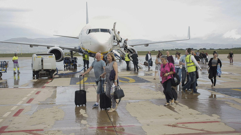 En septiembre de 2015 aterrizó en el Aeropuerto de Castellón el primer vuelo regular. (EFE)