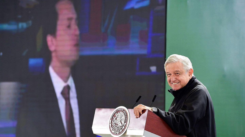 El presidente mexicanos, Andres Manuel Lopez Obrador, durante una rueda de prensa sobre el proceso de Lozoya. (EFE)