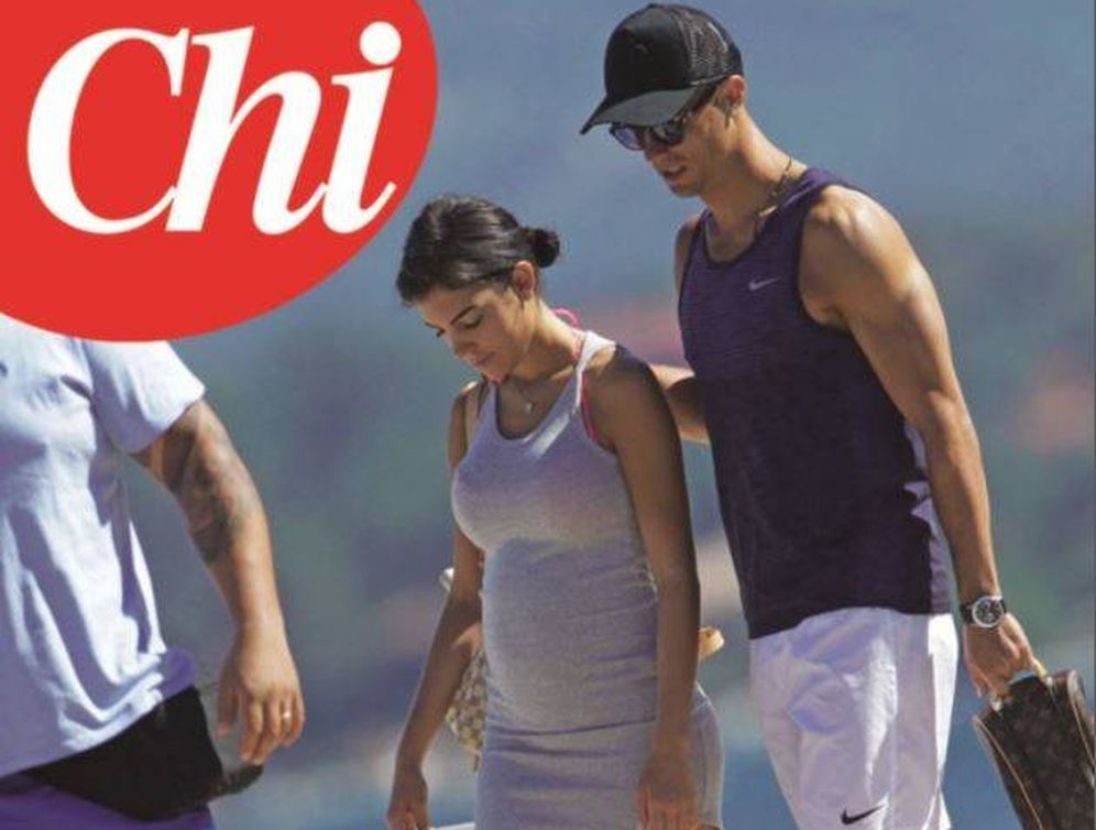 Foto: Cristiano Ronaldo y Georgina Rodríguez en una imagen de 'Chi'.