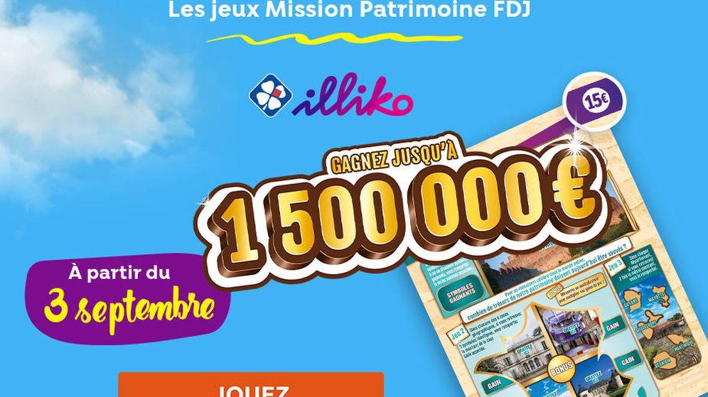 Foto: Cartel promocional de la lotería del patrimonio (FDJ)