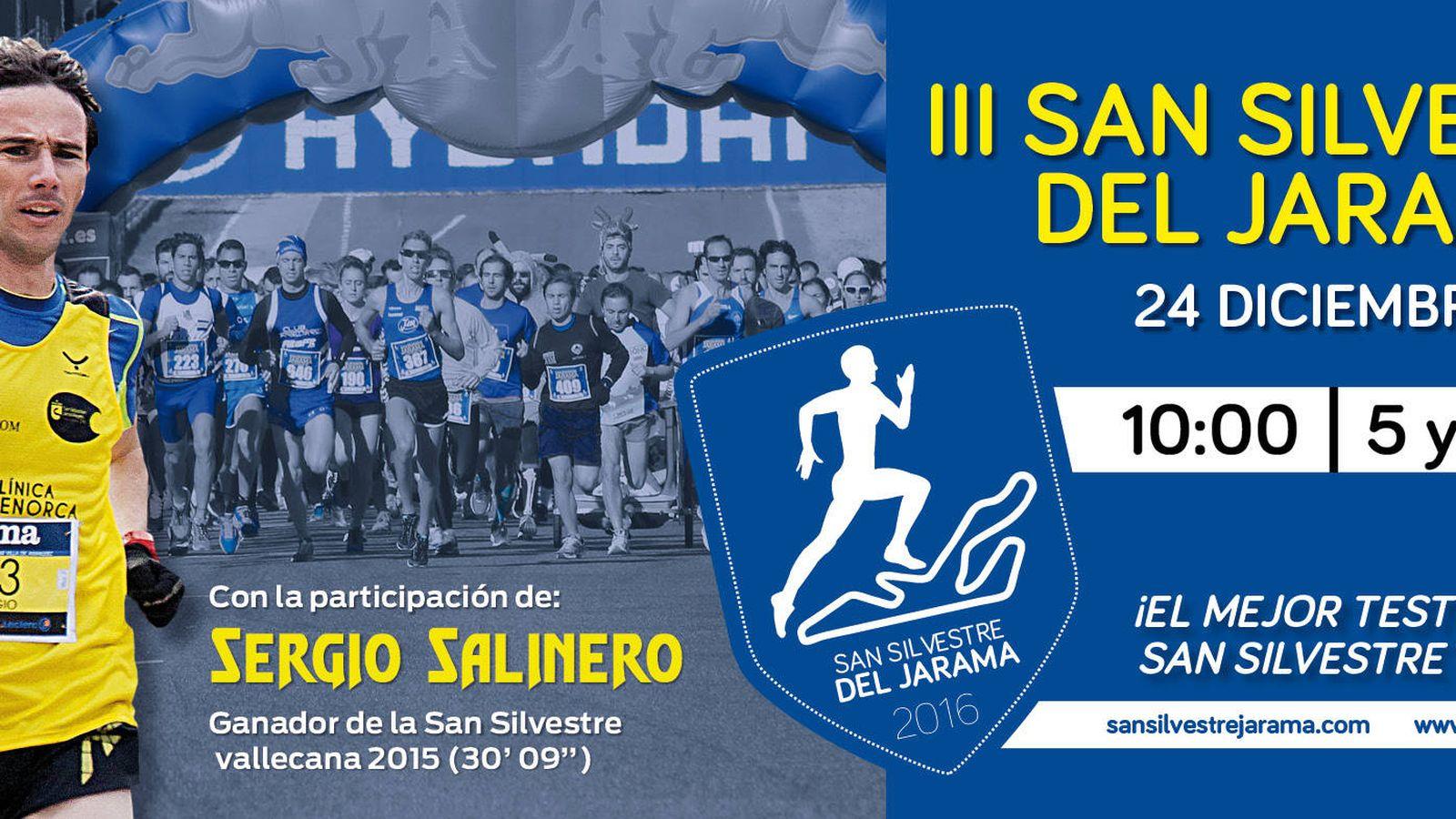 Foto: Cartel promocional de la San Silvestre del Jarama.
