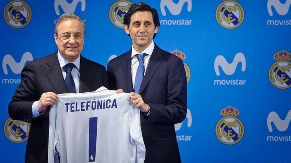Foto: Florentino Pérez y José María Álvarez-Pallete, presidentes de ACS y Telefónica, respectivamente. (EFE)