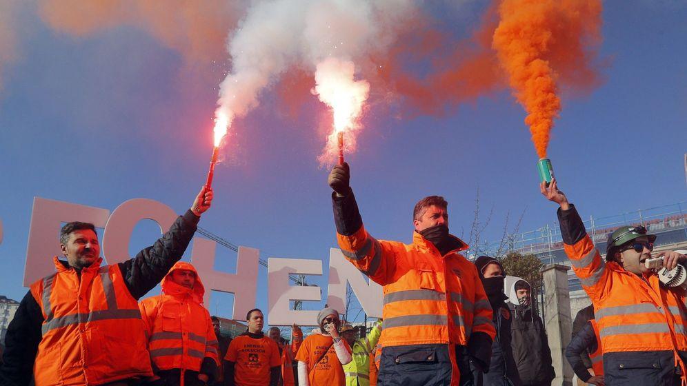 Foto: Manifestación de los trabajadores de Alcoa de A Coruña en enero. (EFE)