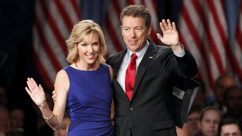 Foto: El candidato republicano Rand Paul y su esposa, Kelley Ashby