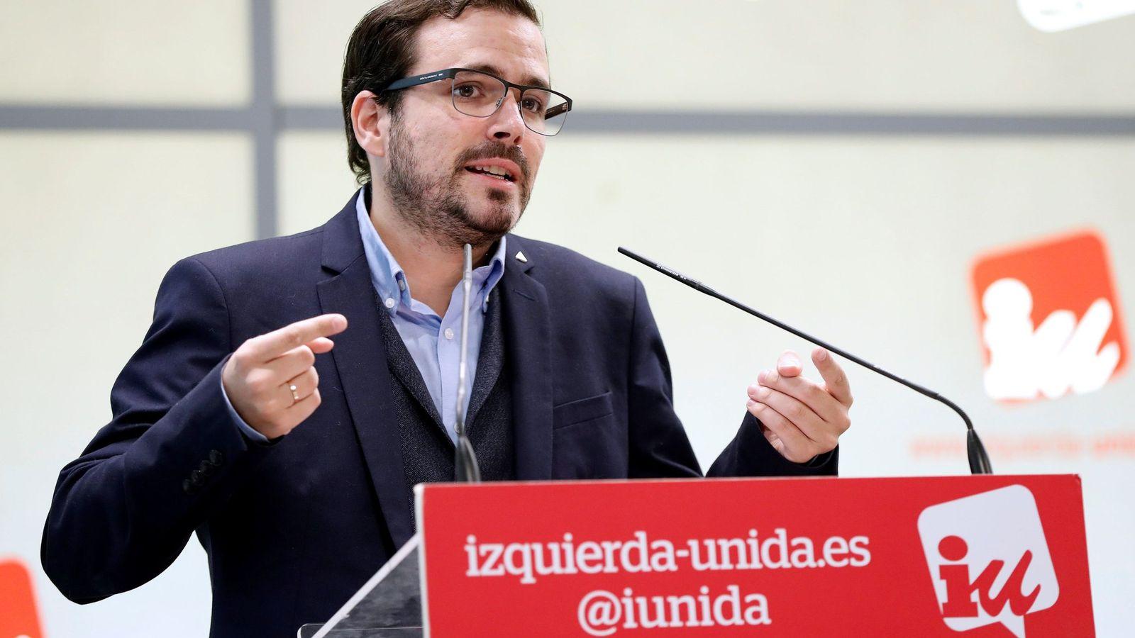 Foto: El coordinador federal de IU, Alberto Garzón. (EFE)