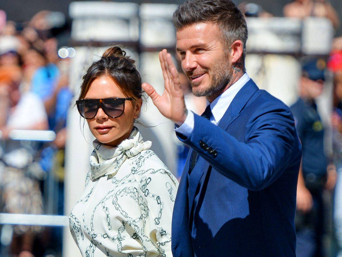 Foto:  David y Victoria Beckham, en la boda de Sergio Ramos. (Getty)