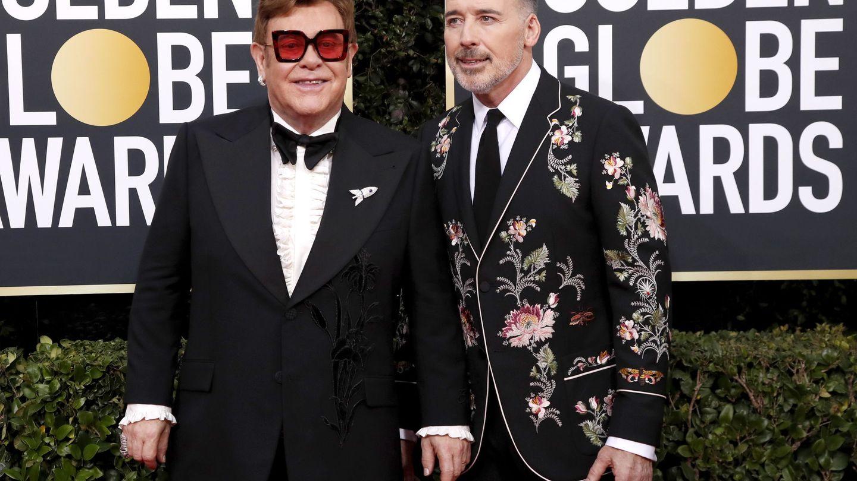 Elton John y David Furnish. (EFE)