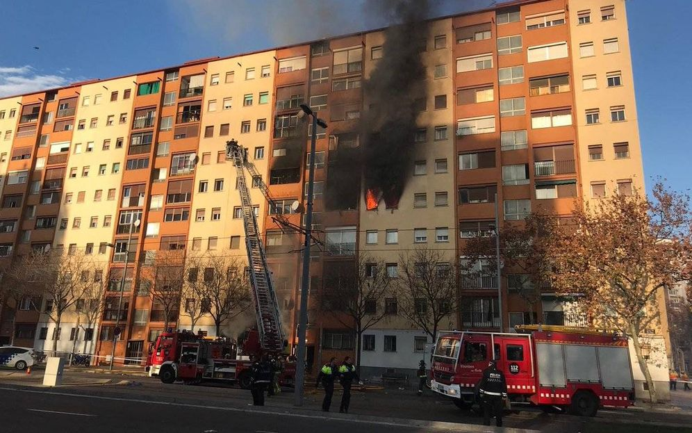 Foto: Imagen del incendio. (TW)