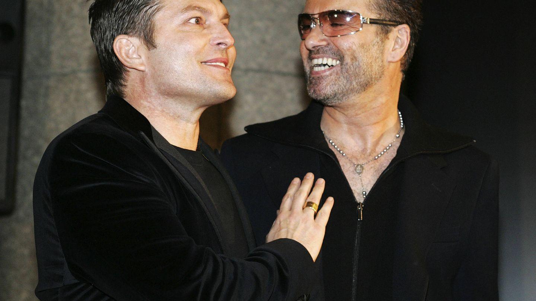 Kenny Goss y George Michael. (Getty)