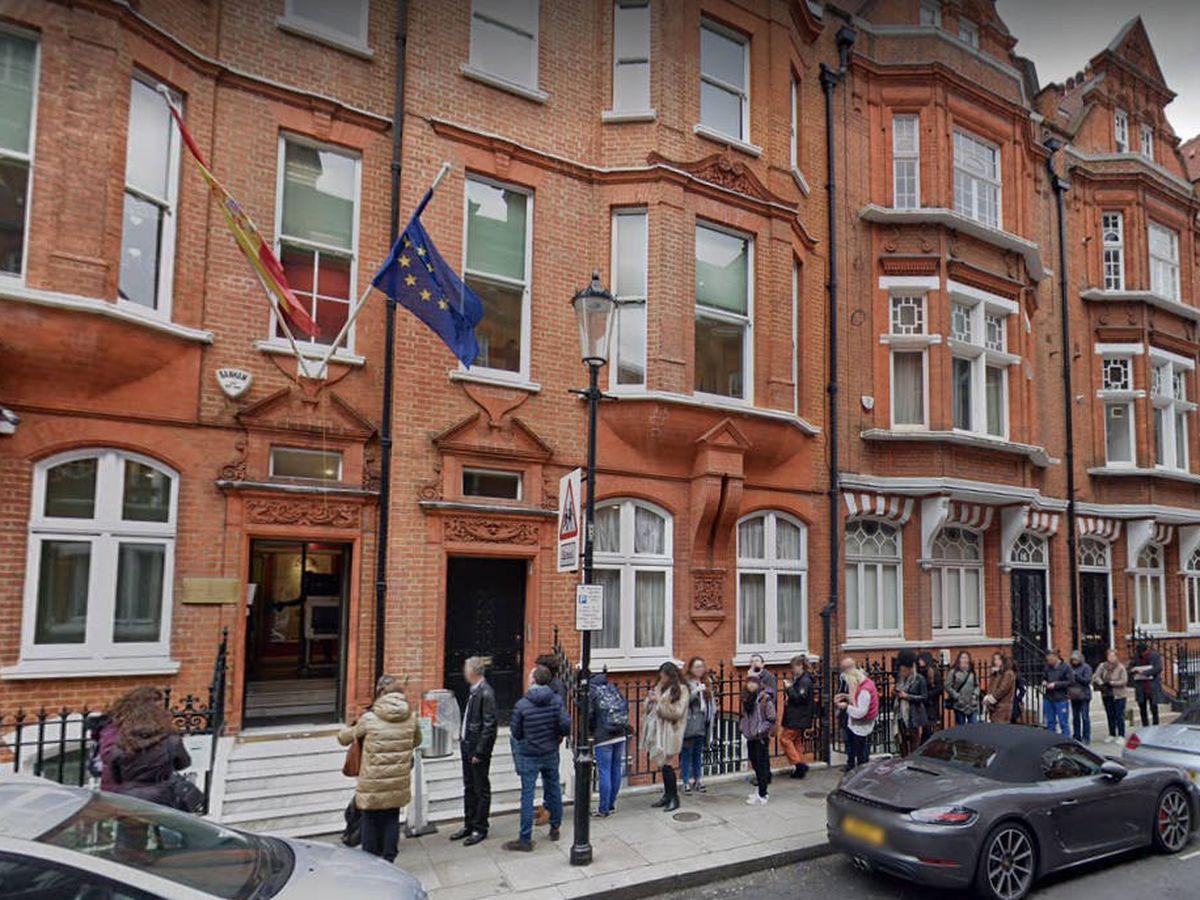 Foto: Consulado español en Londres. (Google Maps)