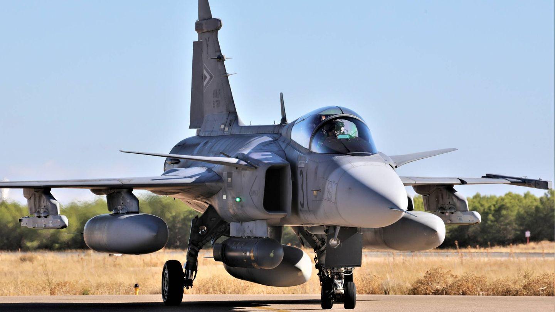 El SAAB Gripen es un buen avión, pero quedó muy pronto fuera del concurso suizo. (J. F.)