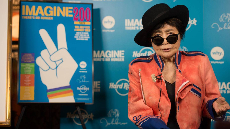 Yoko Ono durante la campaña' Imagine 200'. (Gtres)
