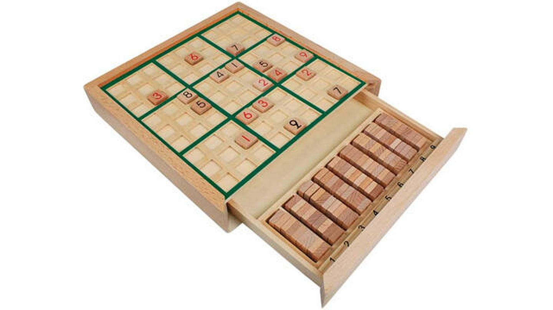 Juego de mesa de madera sudoku Andux