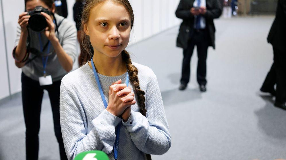 Foto: Greta Thunberg, en la Cumbre del Clima de Madrid este lunes. (Reuters)