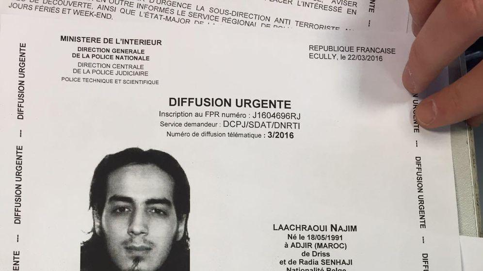 Foto: Ficha policial de Najim Laachraqui