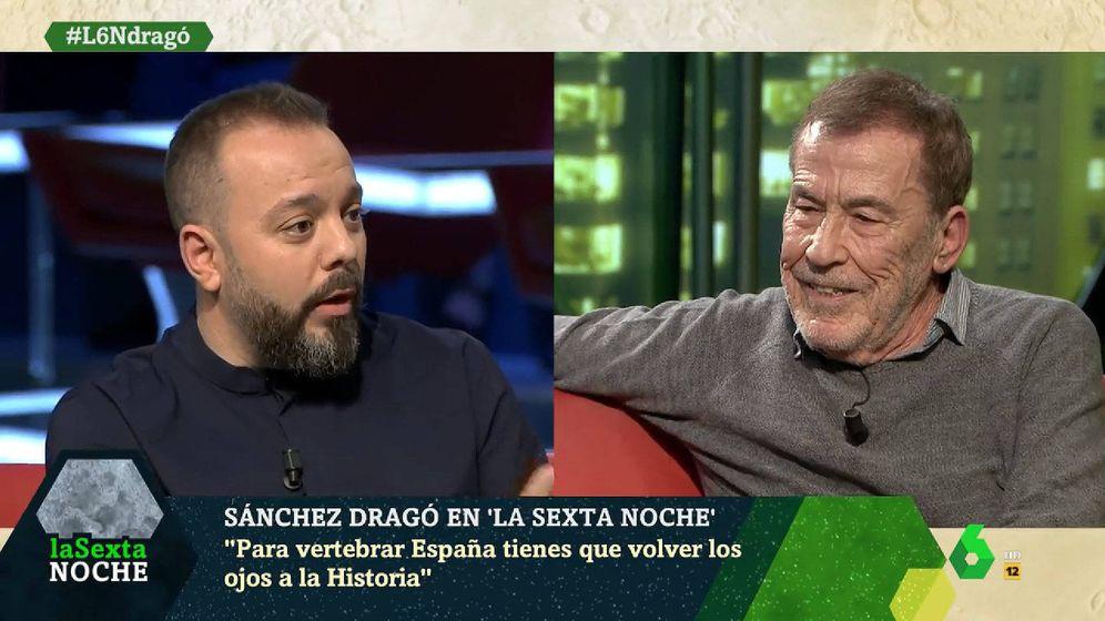 Foto: Antonio Maestre y Fernando Sánchez Dragó, en 'La Sexta Noche'. (La Sexta)