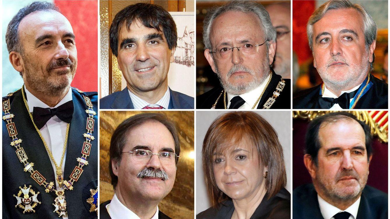 Foto: Los siete magistrados del Tribunal Supremo que han redactado y firmado la sentencia del 'procés'. (EFE)