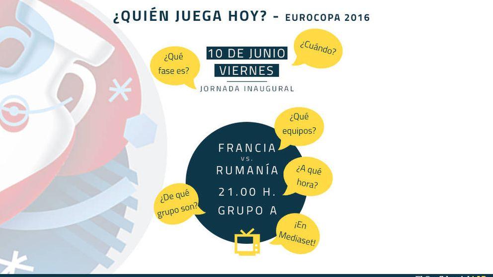 Consulta día a día el calendario de la Eurocopa 2016