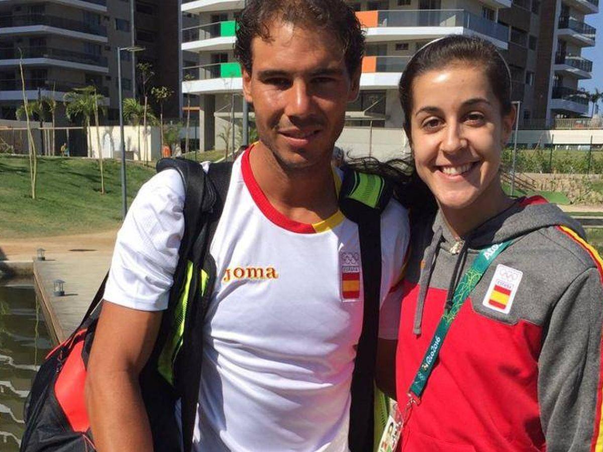 Foto: Rafa Nadal y Carolina Marín.