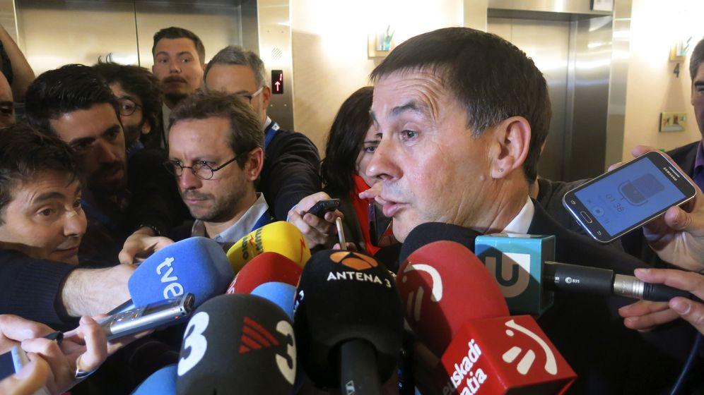 Foto: Declaraciones de Otegi en el Parlamento Europeo el pasado martes (EFE)